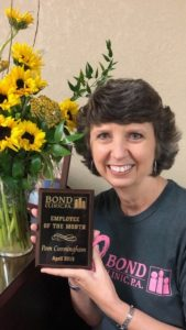 Pam Cunningham - 2019 April Employee of the Month