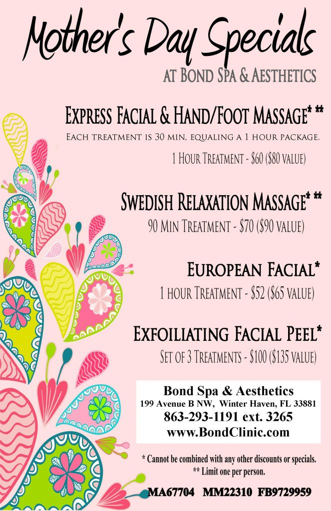 Mother's Day Specials at Bond Spa & Aesthetics - Bond ...