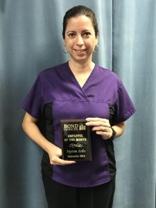 September 2018 Employee o the Month - Myriam Aviles